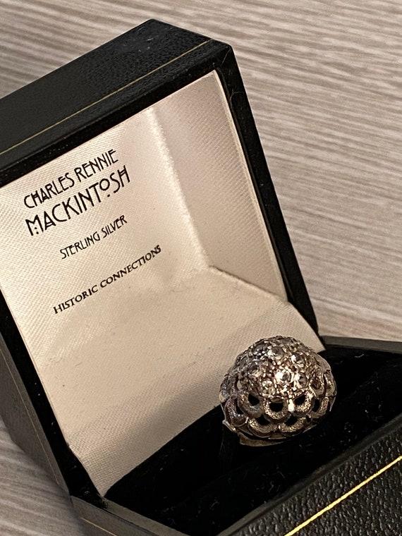 Charles Macintosh Ring, Sterling Silver, Scottish
