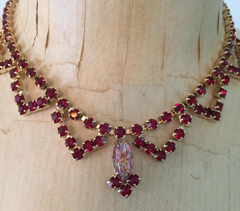1960s Vintage Jewelry Rhinestone Choker Necklace