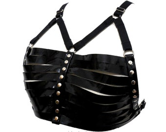Ara Bra. Leather Harness Bra