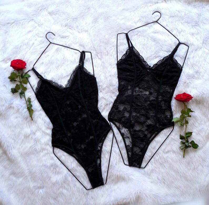 Bodysuit Lux. Black Lace Lingerie. Black Lingerie Bodysuit. image 0