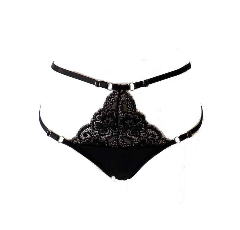 Bellis Thong. Lace Knickers. Harness Panties. Lace Harness  8d2ce71d7