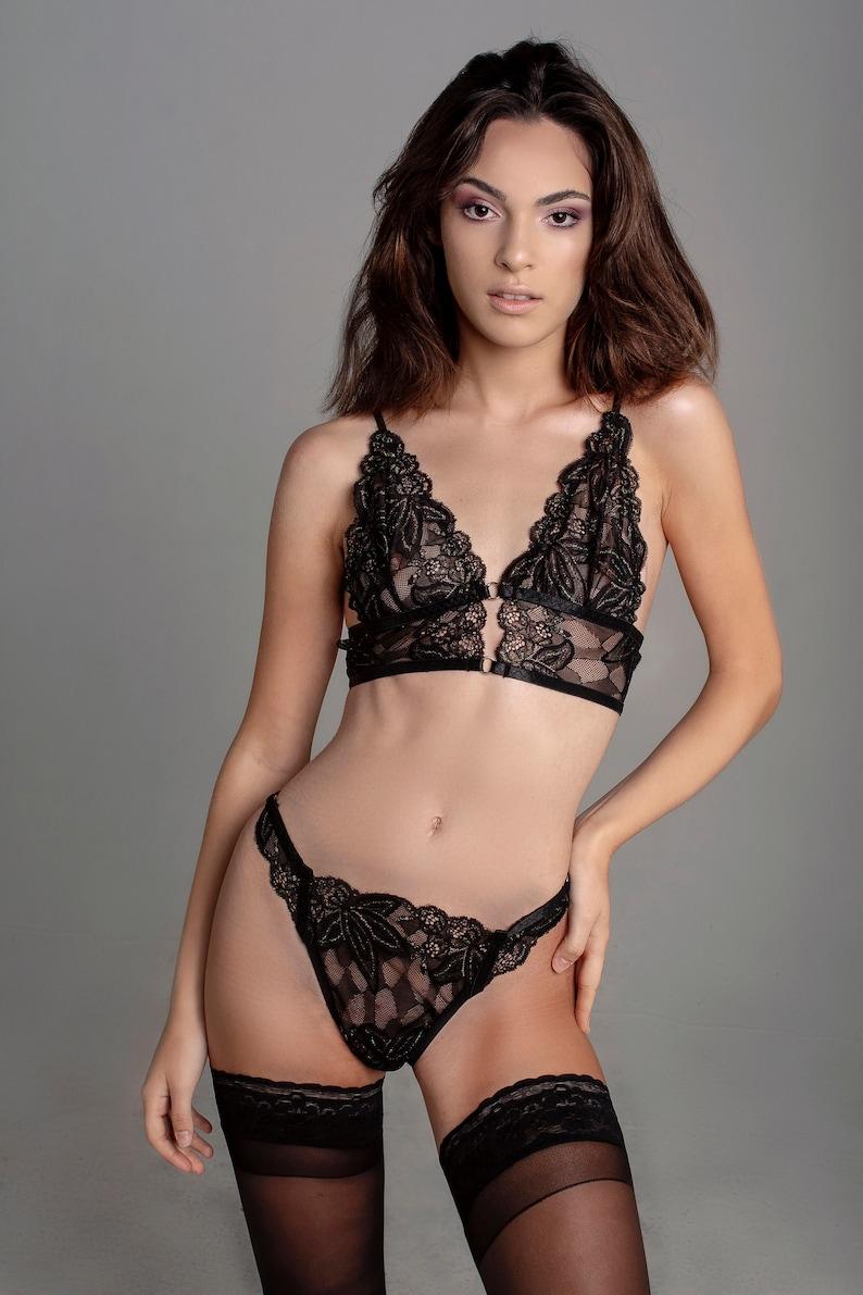 Laurus Lingerie Set. Sparkly Lingerie. Lurex Underwear. image 0
