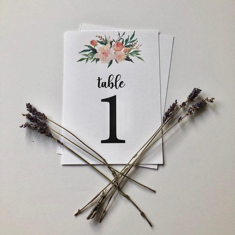 Physical Wedding Table Numbers  Table Number Place Cards  Wedding Decorations  Wedding Centerpiece  Wedding Decor