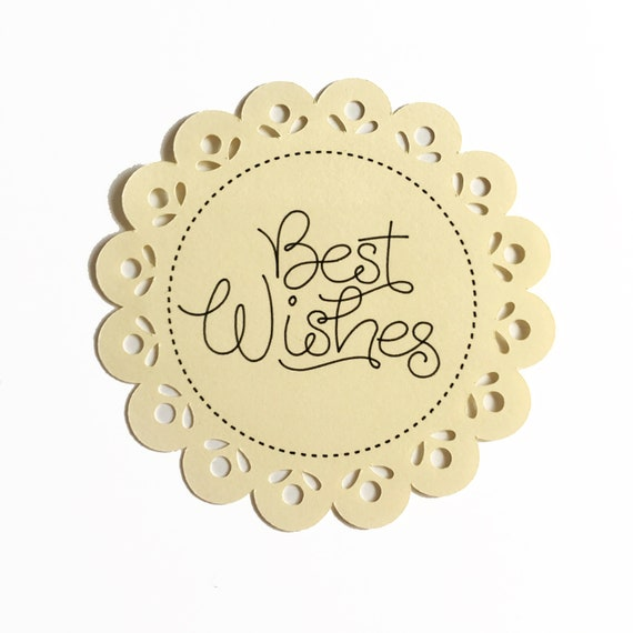 Metal Cutting Die /'BEST WISHES/' Scalloped Label