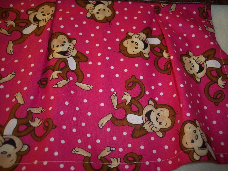 Apron  childs half apron little MonkeysPink