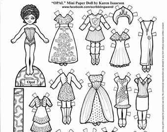 Hibiscus And Eglantine Fairy Paper Doll Coloring Pages Etsy