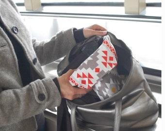 Camera Bag for Traveling Disneyland Disneyworld Seaworld 2018 | Gray Aztec Cotton Canvas Designer Camera Coat Water Resistant |Ready To Ship