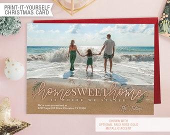 Printable Photo We've Moved Christmas Card - Home Sweet Home