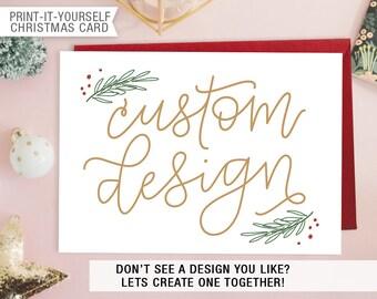 Printable Photo Christmas Card - Custom Design