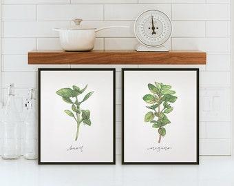 Set of 2 Herb Prints