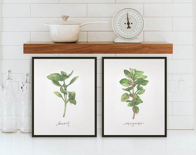 Featured listing image: Set of 2 Herb Prints