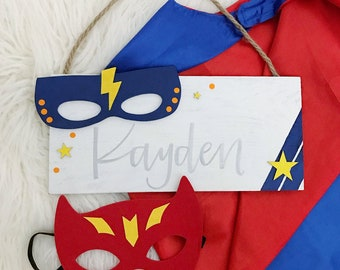Boys Superhero Name Sign