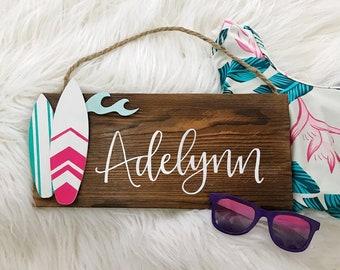 Girls Surfboard Name Sign