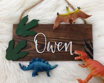 Dinosaur Name Sign