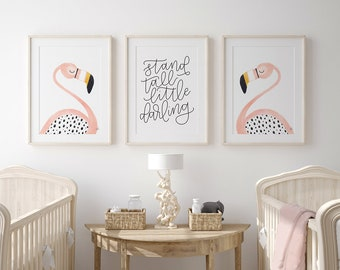 Flamingos and Stand Tall Prints