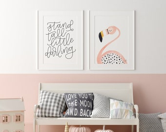Flamingo and Stand Tall Prints
