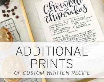 Additional Print of  Custom Recipe