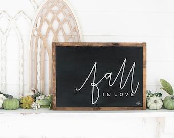 Fall in Love Chalkboard Print