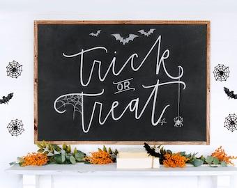 Trick-or-Treat Chalkboard Print