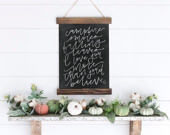 Campfires & You Chalkboard Print