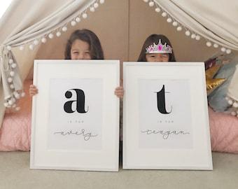 Custom Alphabet Name