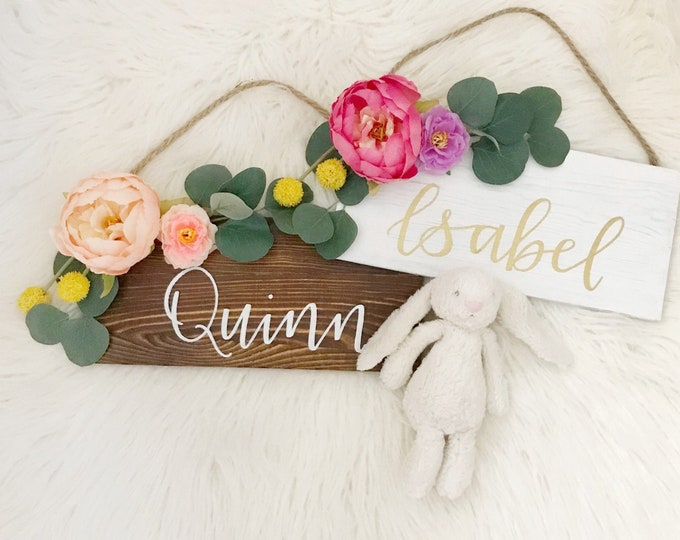 Featured listing image: Handlettered Flower Name Sign