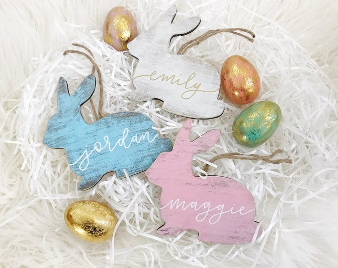 Featured listing image: Easter Bunny Name Tag