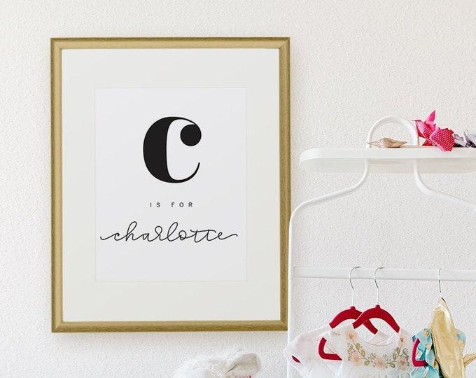 Featured listing image: Custom Alphabet Name