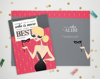 Birthday Card - My Alibi
