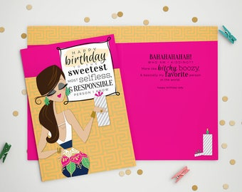 Birthday Card - Bitchy Boozy