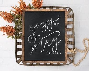 Cozy Up Chalkboard Print - Vertical