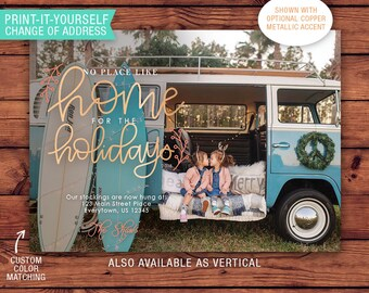 We've Moved Printable Christmas Card - Home for the Holidays