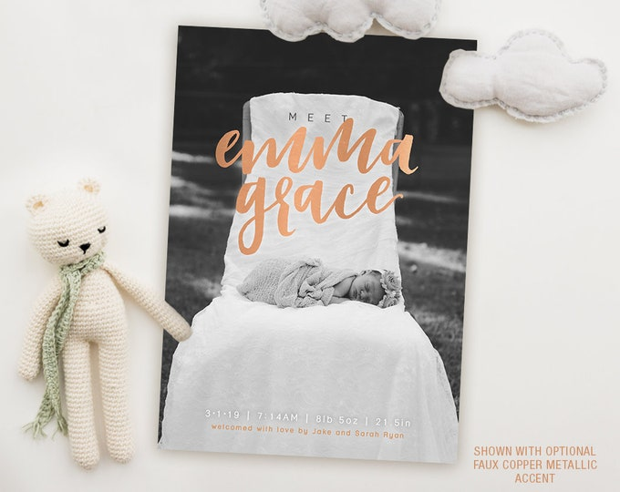 Featured listing image: Print-It-Yourself Card - Meet Baby