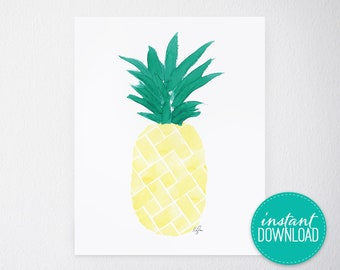 Island Citrus Yellow Printable
