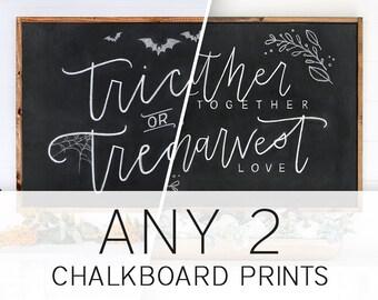 ANY 2 Fall Chalkboard Prints