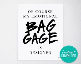 Emotional Baggage Printable