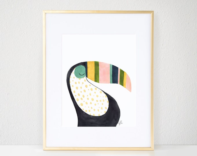 Featured listing image: Billie the Toucan Print