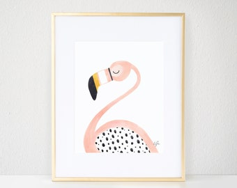 Pinky the Flamingo Print