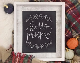 Hello Pumpkin Chalkboard Print