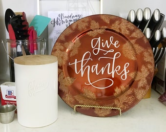 Give Thanks Charger Plate