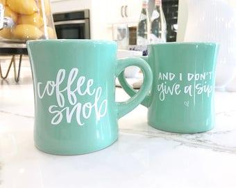 SALE 10oz Mint Coffee Snob Mug