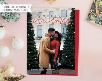 Printable Photo Christmas Card - Merry Christmas