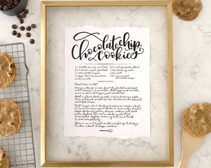 Featured listing image: Handwritten Recipe Print