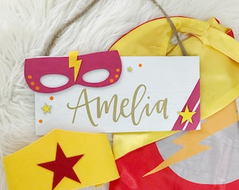 Girls Superhero Name Sign