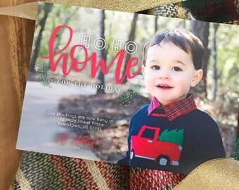 We've Moved Printable Christmas Card - Ho Ho Home for the Holidays