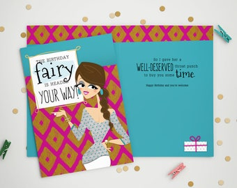 Birthday Card - Birthday Fairy
