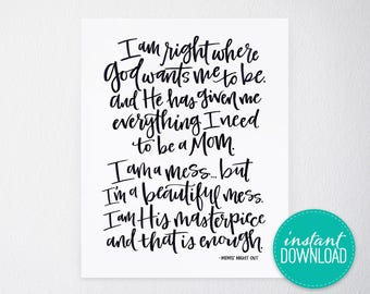 Mom Quote Printable