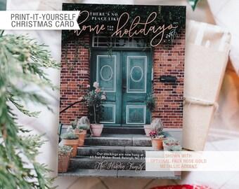 Printable Photo Christmas Card - Home for the Holidays