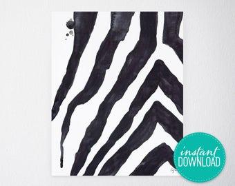 Safari Stripes Printable