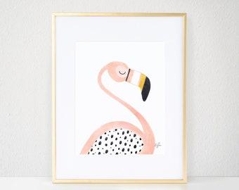 Pinky the Flamingo Print REV